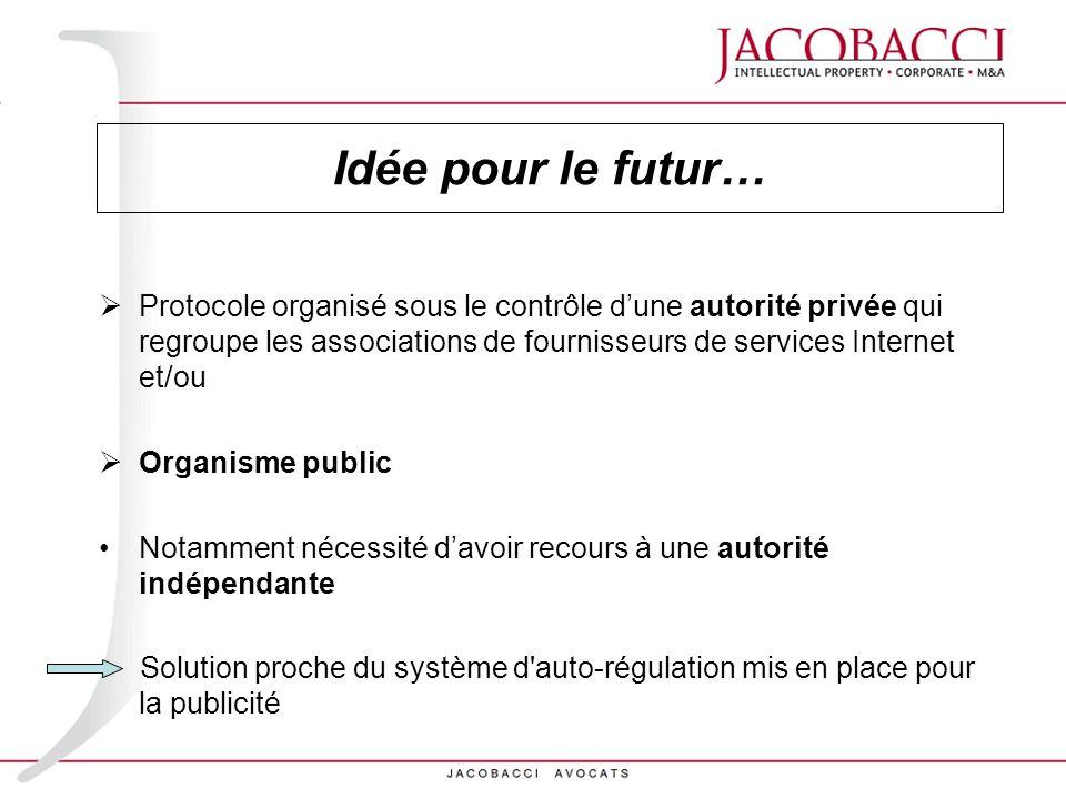 Idée pour le futur…