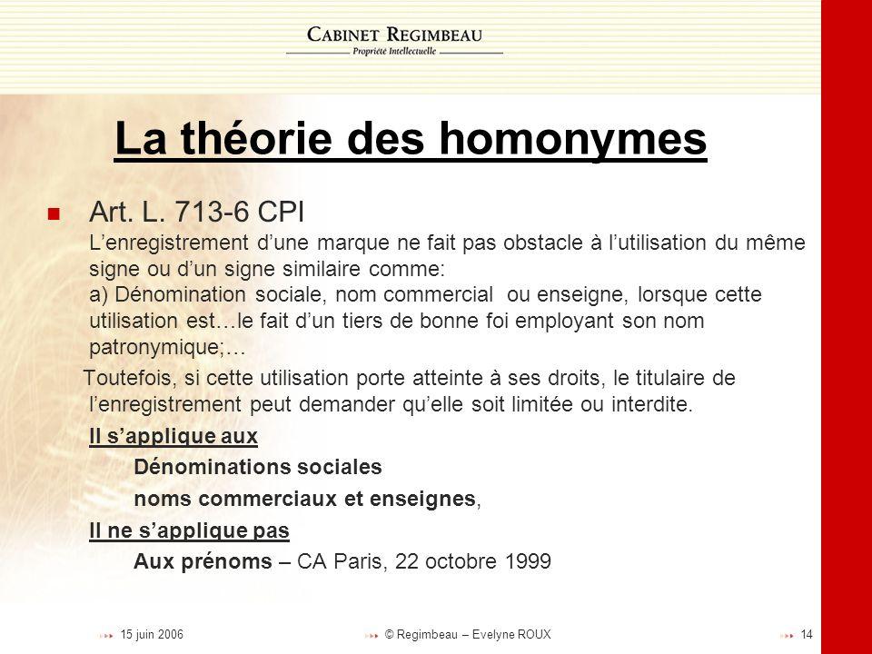 La théorie des homonymes
