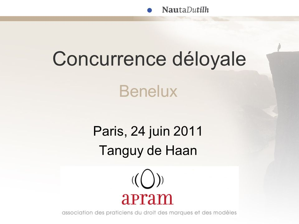 Benelux Paris, 24 juin 2011 Tanguy de Haan