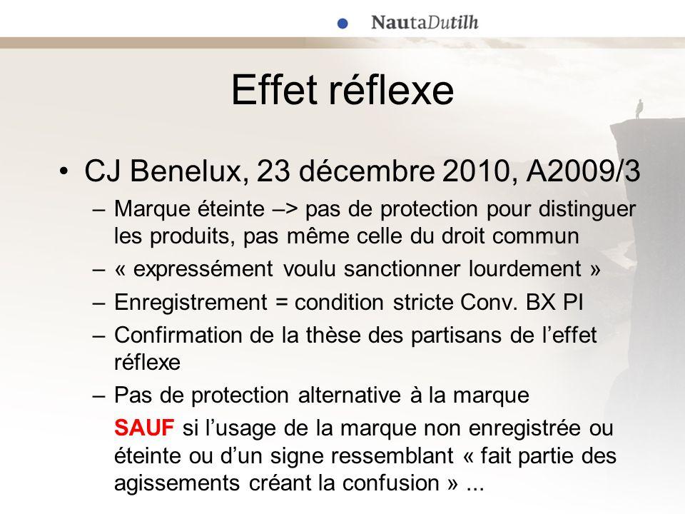 Effet réflexe CJ Benelux, 23 décembre 2010, A2009/3