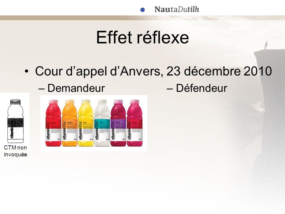 Effet réflexe Cour d'appel d'Anvers, 23 décembre 2010