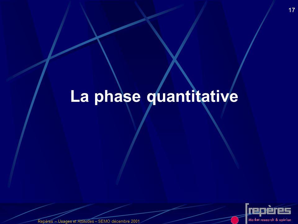 La phase quantitative