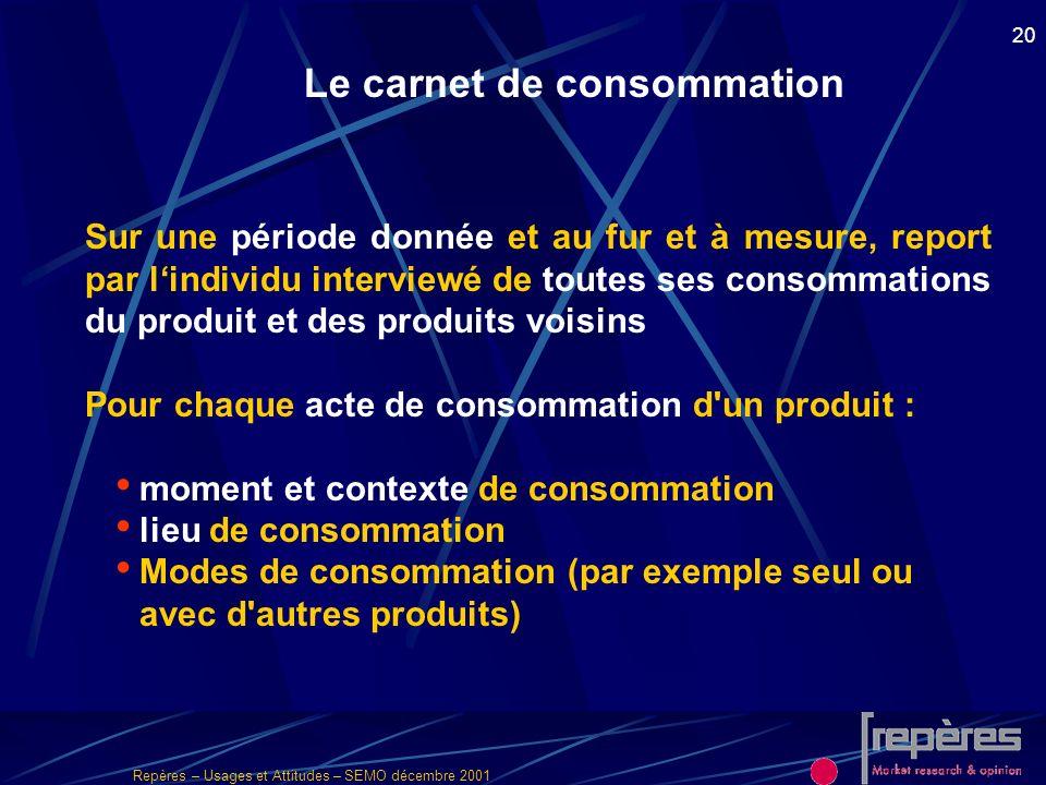 Le carnet de consommation