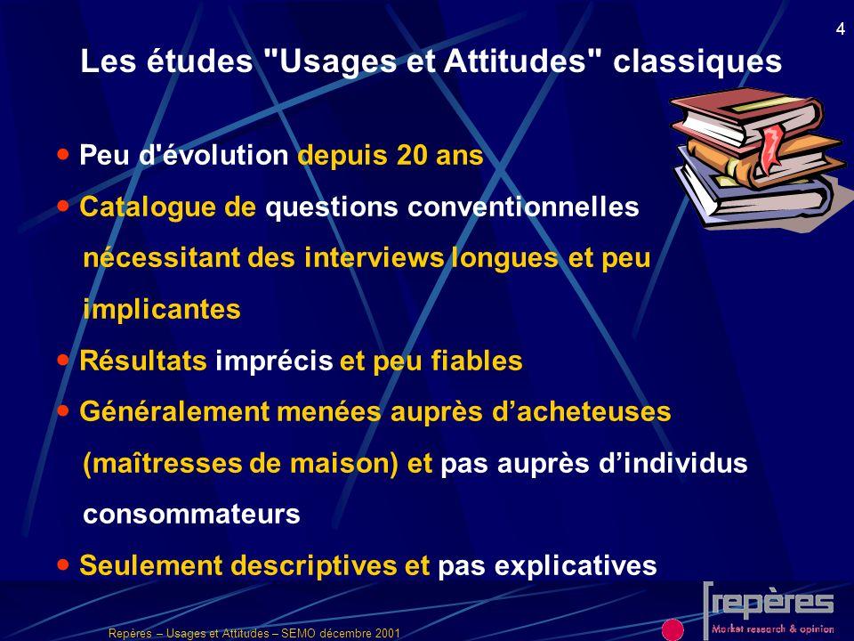 Les études Usages et Attitudes classiques