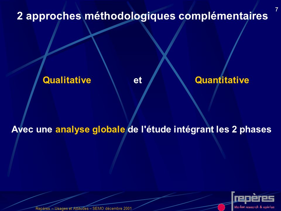 Avec une analyse globale de l étude intégrant les 2 phases