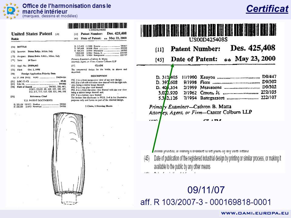 Certificat 09/11/07 aff. R 103/2007-3 - 000169818-0001