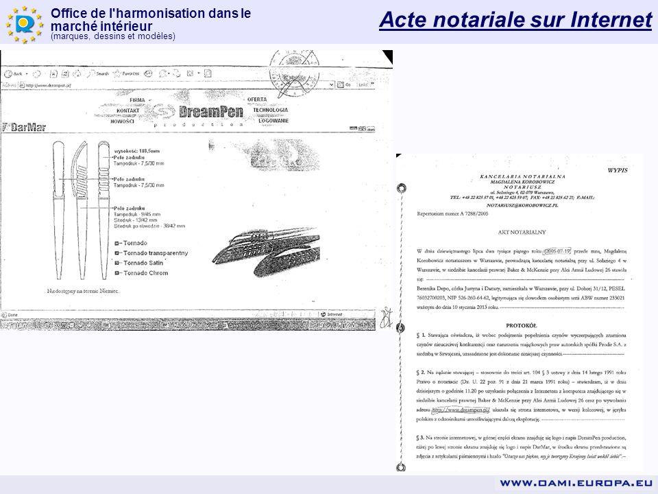 Acte notariale sur Internet
