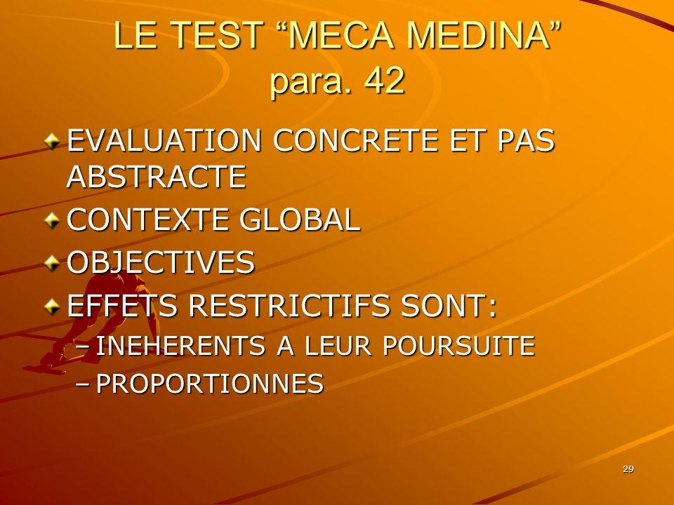LE TEST MECA MEDINA para. 42