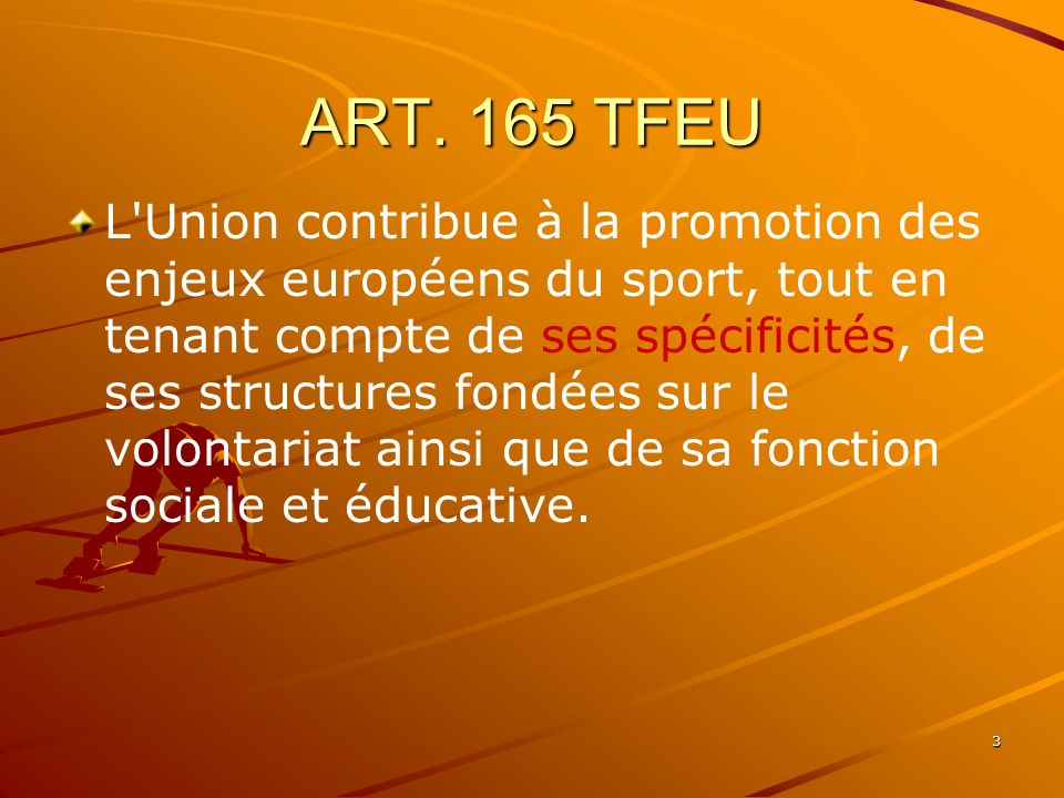 ART. 165 TFEU