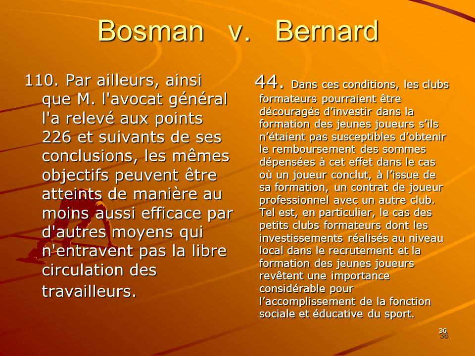 Bosman v. Bernard
