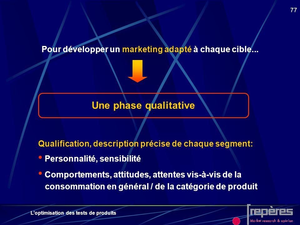 Pour développer un marketing adapté à chaque cible...