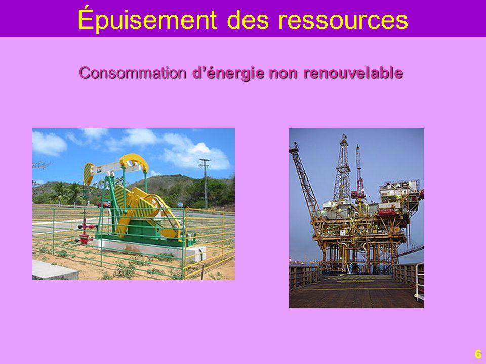Épuisement des ressources