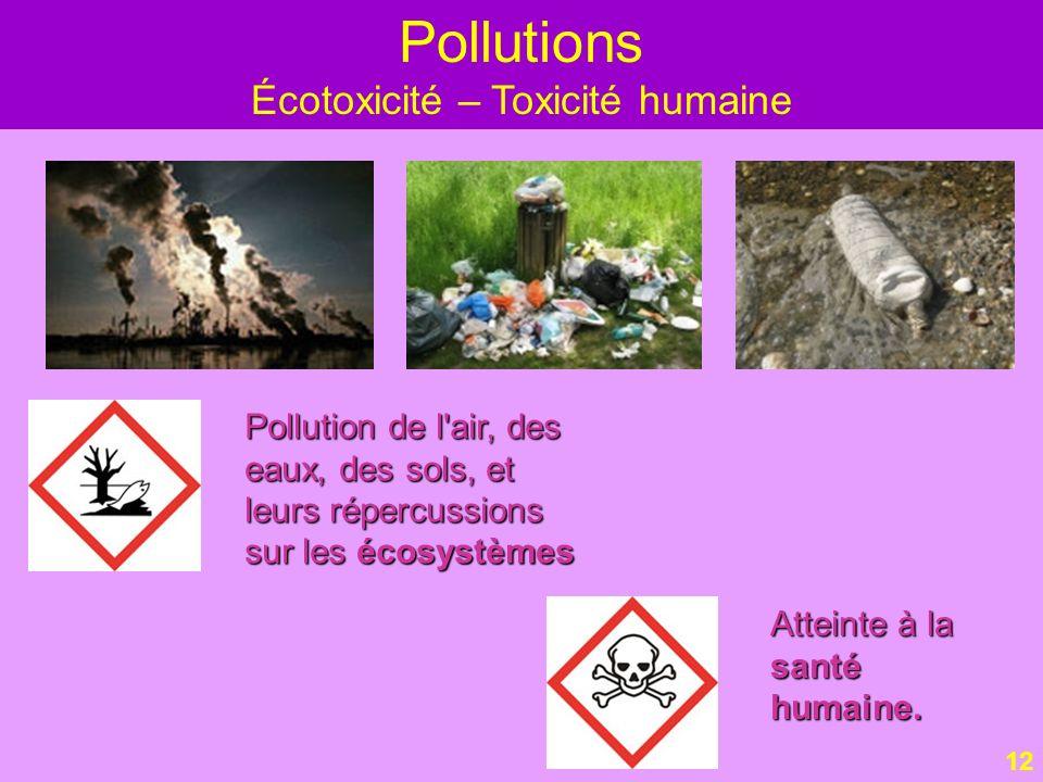 Écotoxicité – Toxicité humaine
