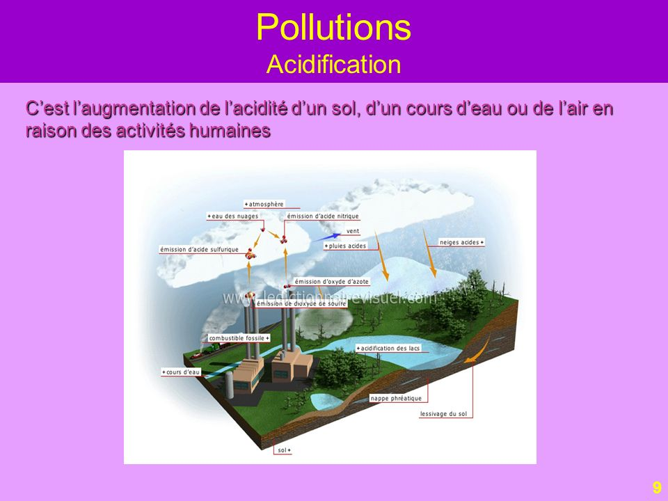 Pollutions Acidification