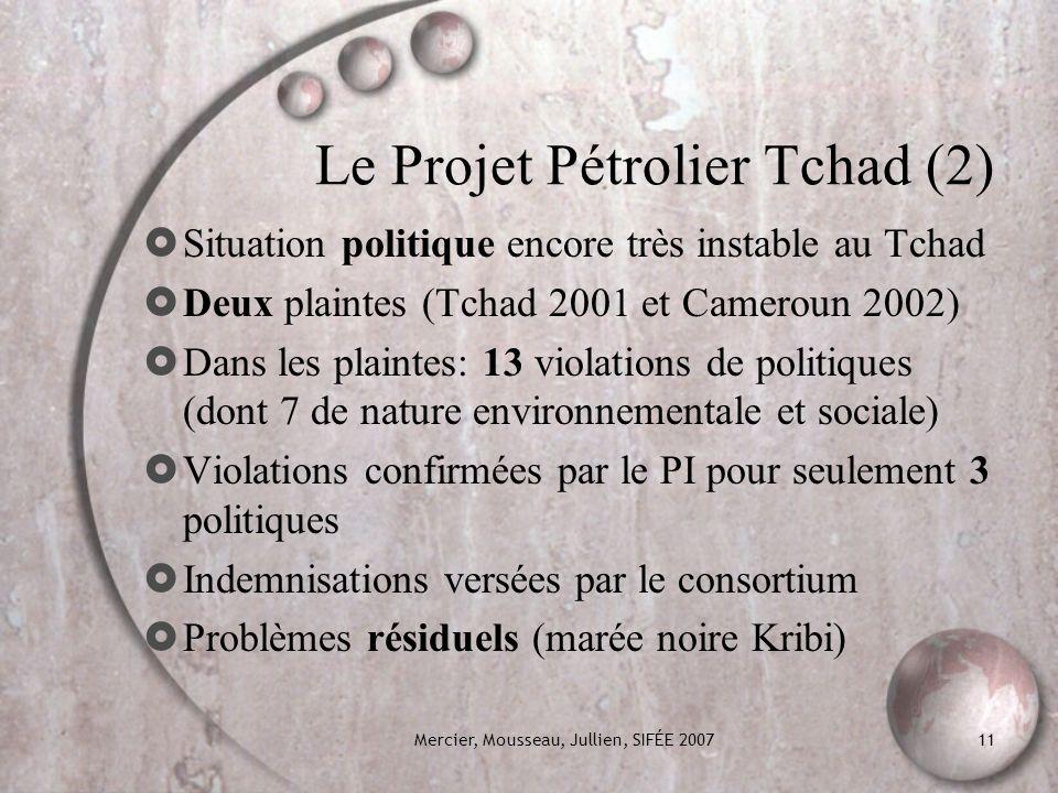 Le Projet Pétrolier Tchad (2)