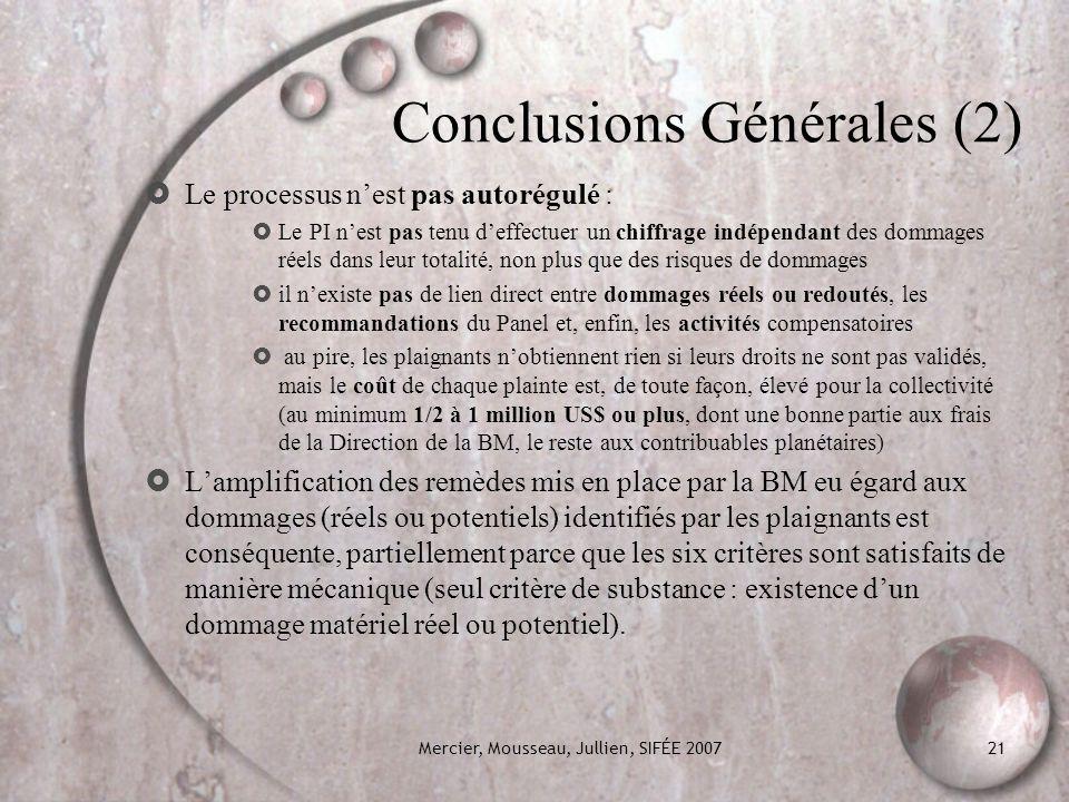 Conclusions Générales (2)
