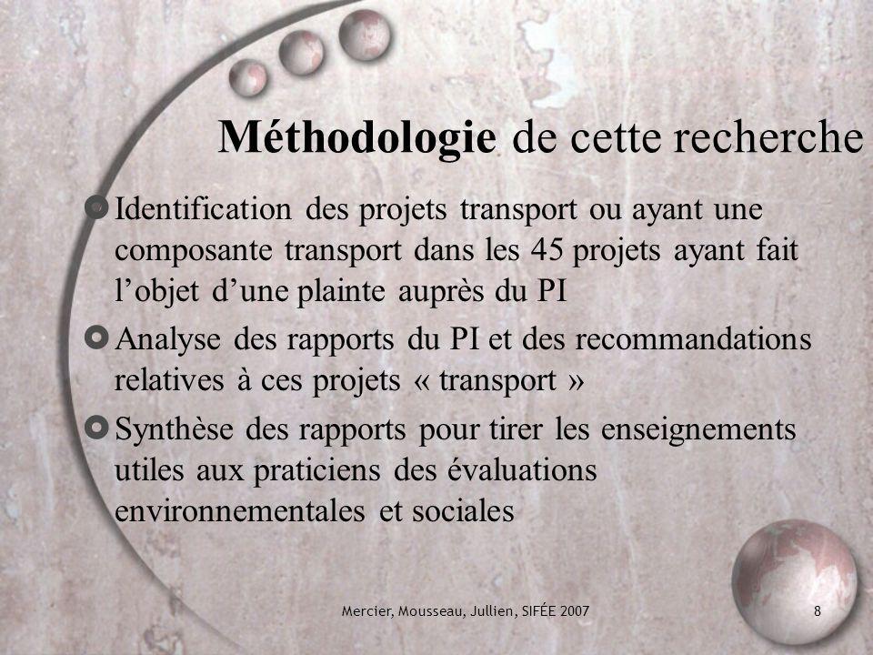 Méthodologie de cette recherche