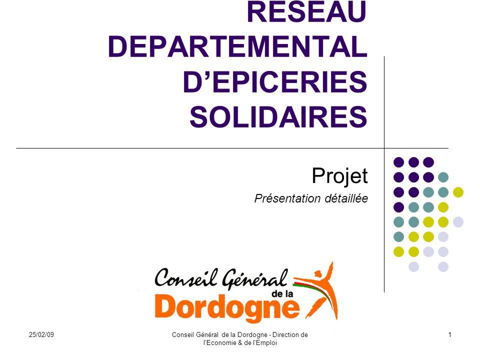 RESEAU DEPARTEMENTAL D'EPICERIES SOLIDAIRES