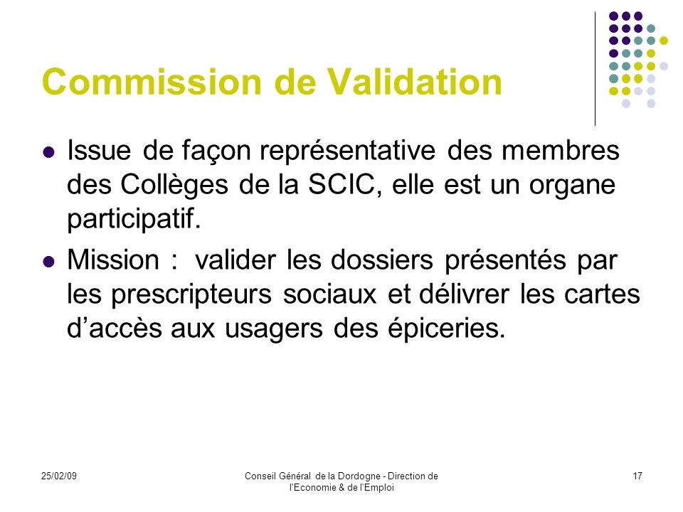 Commission de Validation