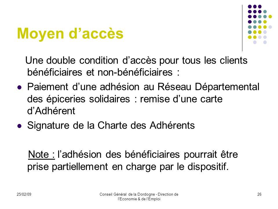 Conseil Général de la Dordogne - Direction de l Economie & de l Emploi