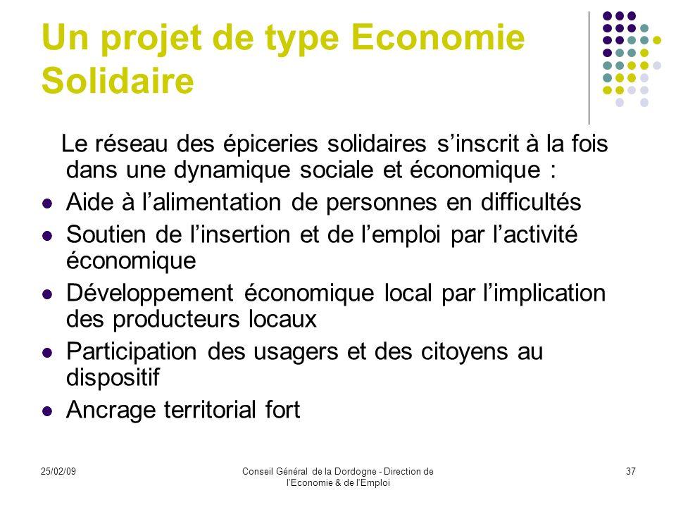 Un projet de type Economie Solidaire