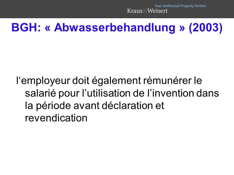 BGH: « Abwasserbehandlung » (2003)