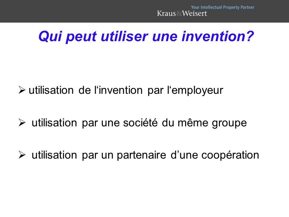 Qui peut utiliser une invention