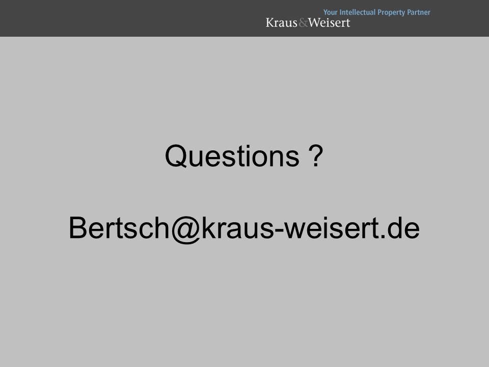 Questions Bertsch@kraus-weisert.de