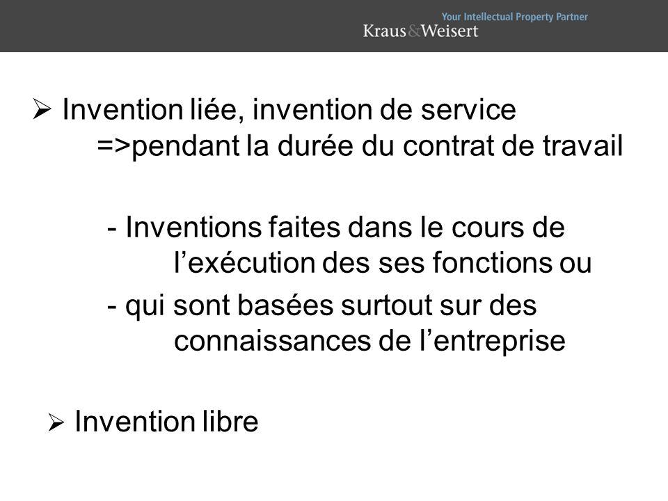 - Inventions faites dans le cours de l'exécution des ses fonctions ou