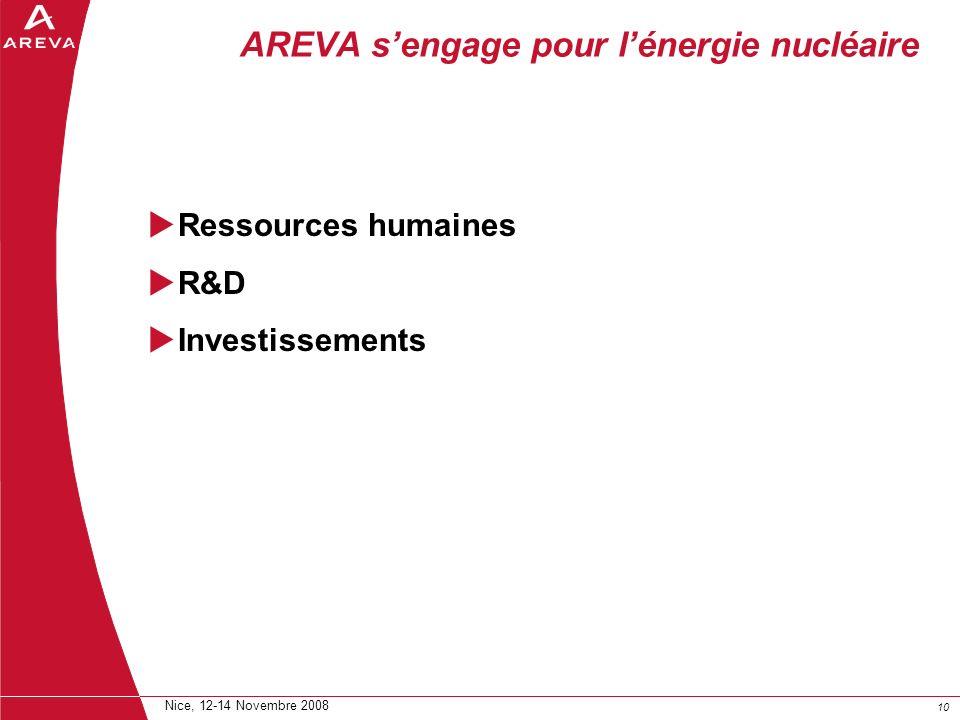 AREVA s'engage pour l'énergie nucléaire