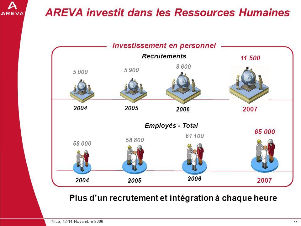 AREVA investit dans les Ressources Humaines