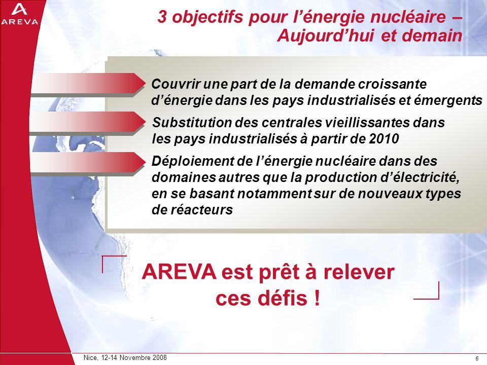 3 objectifs pour l'énergie nucléaire – Aujourd'hui et demain