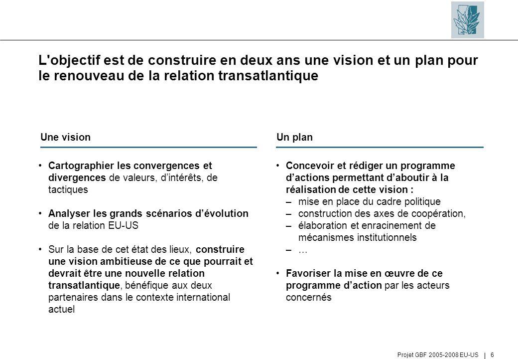 L objectif est de construire en deux ans une vision et un plan pour le renouveau de la relation transatlantique