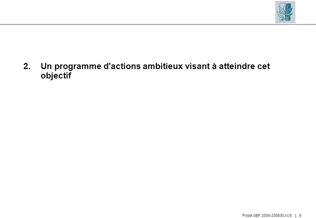2. Un programme d actions ambitieux visant à atteindre cet objectif