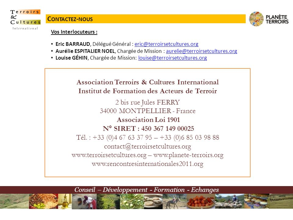 Association Terroirs & Cultures International