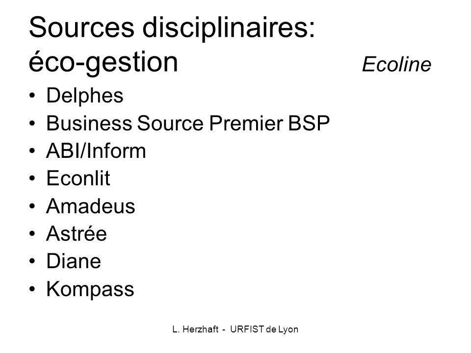 Sources disciplinaires: éco-gestion Ecoline