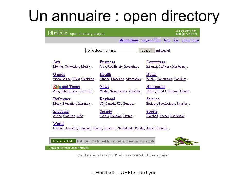 Un annuaire : open directory