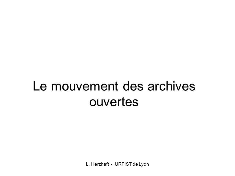 Le mouvement des archives ouvertes