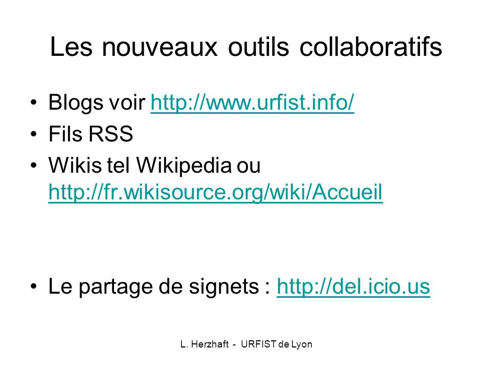 Les nouveaux outils collaboratifs