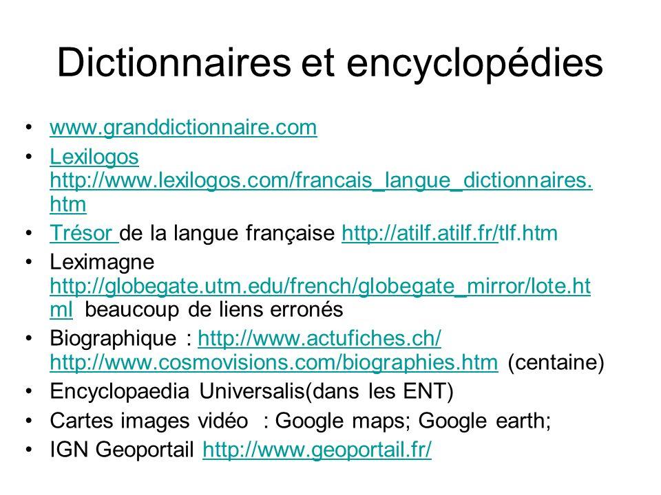 Dictionnaires et encyclopédies
