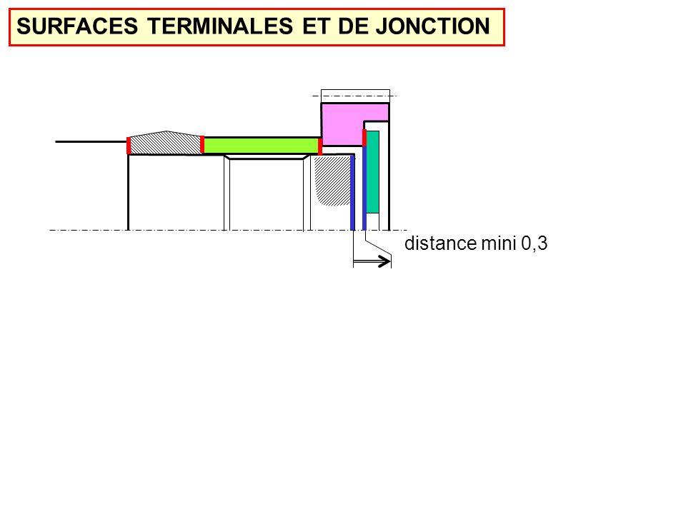 SURFACES TERMINALES ET DE JONCTION