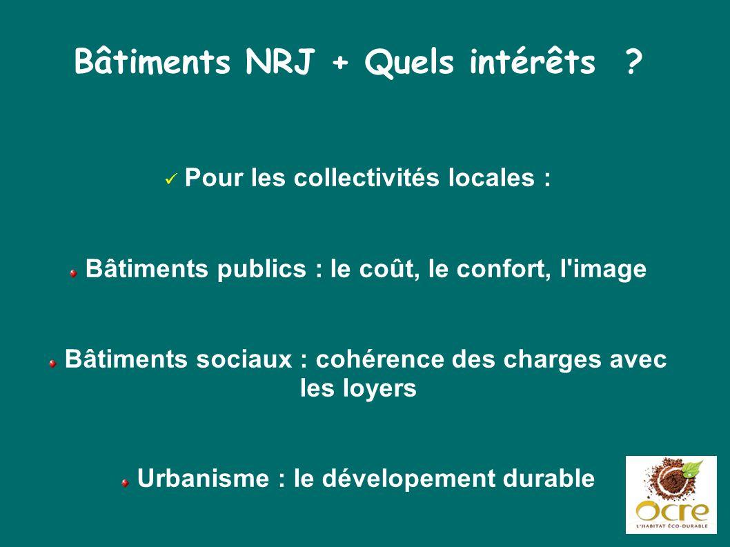 Bâtiments NRJ + Quels intérêts