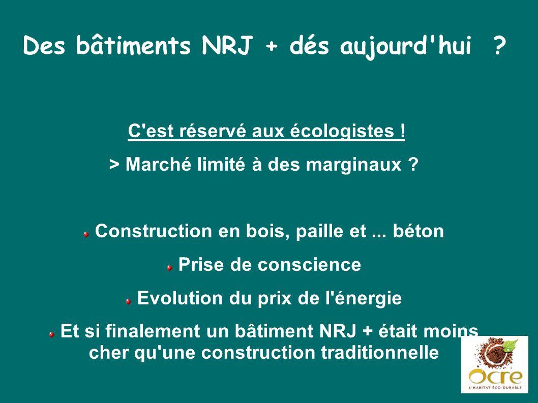 Des bâtiments NRJ + dés aujourd hui