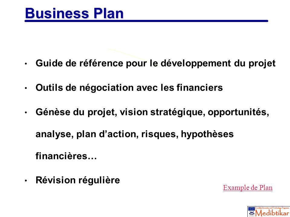 Business Plan Guide de référence pour le développement du projet