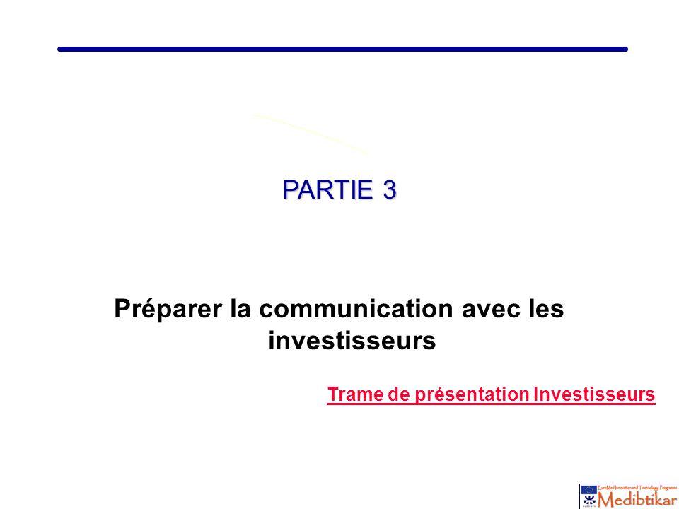 Préparer la communication avec les investisseurs