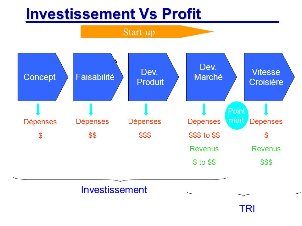 Investissement Vs Profit