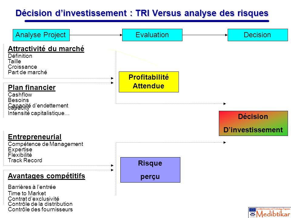 Décision d'investissement : TRI Versus analyse des risques
