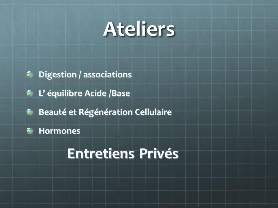 Ateliers Digestion / associations L' équilibre Acide /Base