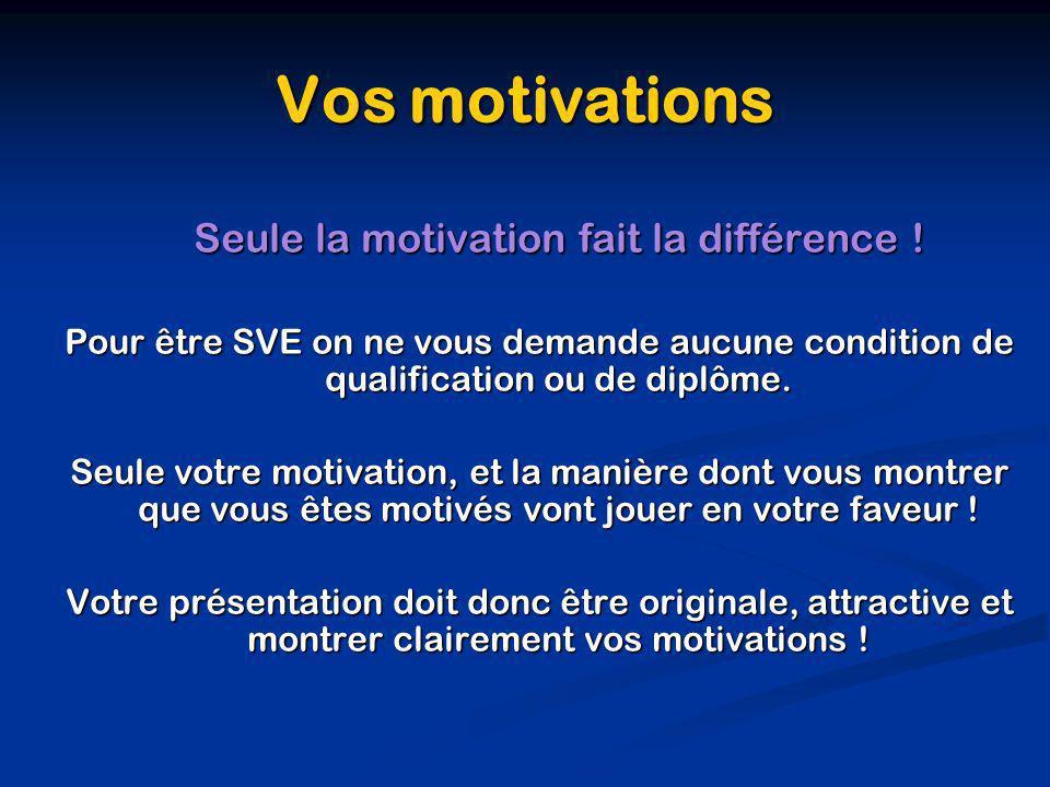 Seule la motivation fait la différence !