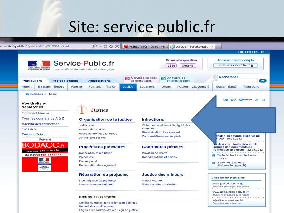 Site: service public.fr